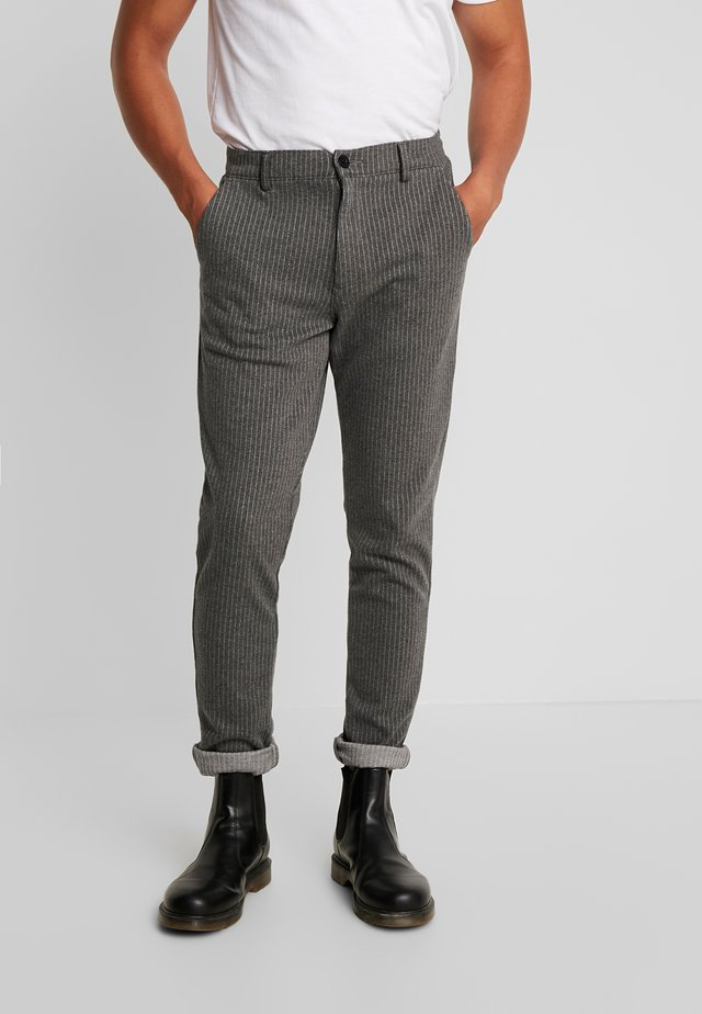 PANTS - Kangashousut - dark grey mix