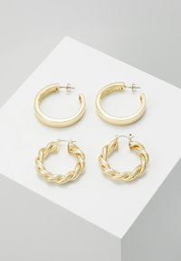 Pieces - PCOLKA HOOP EARRINGS 2 PACK - Øreringe - gold-coloured - 0