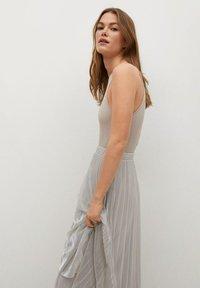 Mango - A-line skirt - silver - 4