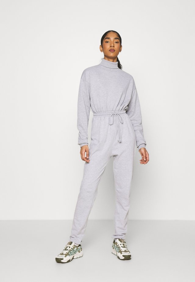 ROLL NECK DROP SHOULDER - Tuta jumpsuit - grey