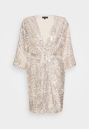 SLFLUCILLE SEQUINS KIMONO - Summer jacket - silver