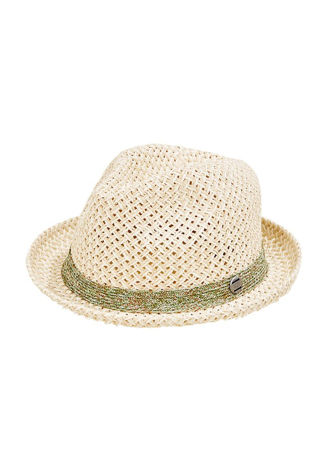 TRILBY-HUT MIT TWO-TONE-FLECHTUNG - Hat - off white
