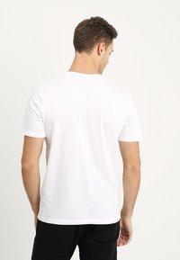 TOM TAILOR - LOGO TEE - Print T-shirt - white - 2