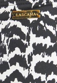 LASCANA - PANTS GATHERED - Bikini bottoms - black/creme - 2