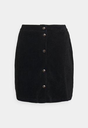 ONLFENJA LIFE BUTTON SKIRT - Minifalda - black