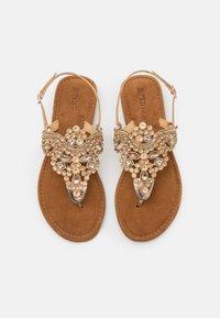 Tamaris - T-bar sandals - rose gold - 5