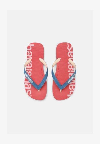 LOGOMANIA HIGHTECH UNISEX - T-bar sandals - pink porcelain