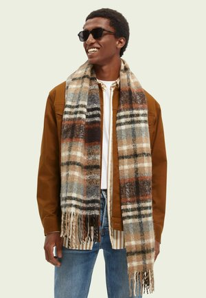 CHECKED BOUCLE - Scarf - combo a