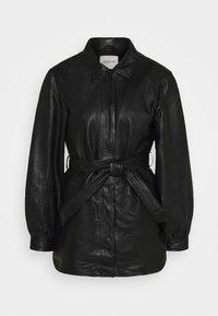 SLFLILI LONG  - Leather jacket - black