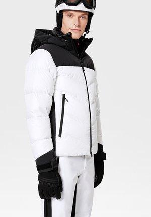 Down jacket - weiß/schwarz