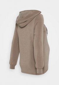 Pieces Maternity - PCMRISE HOODIE LOUNGE - Hoodie - taupe - 1