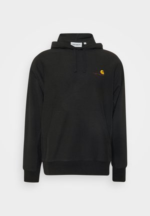 HOODED AMERICAN SCRIPT - Luvtröja - black