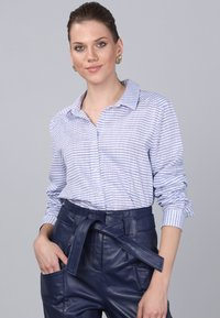 Basics and More - Button-down blouse - blue - 0