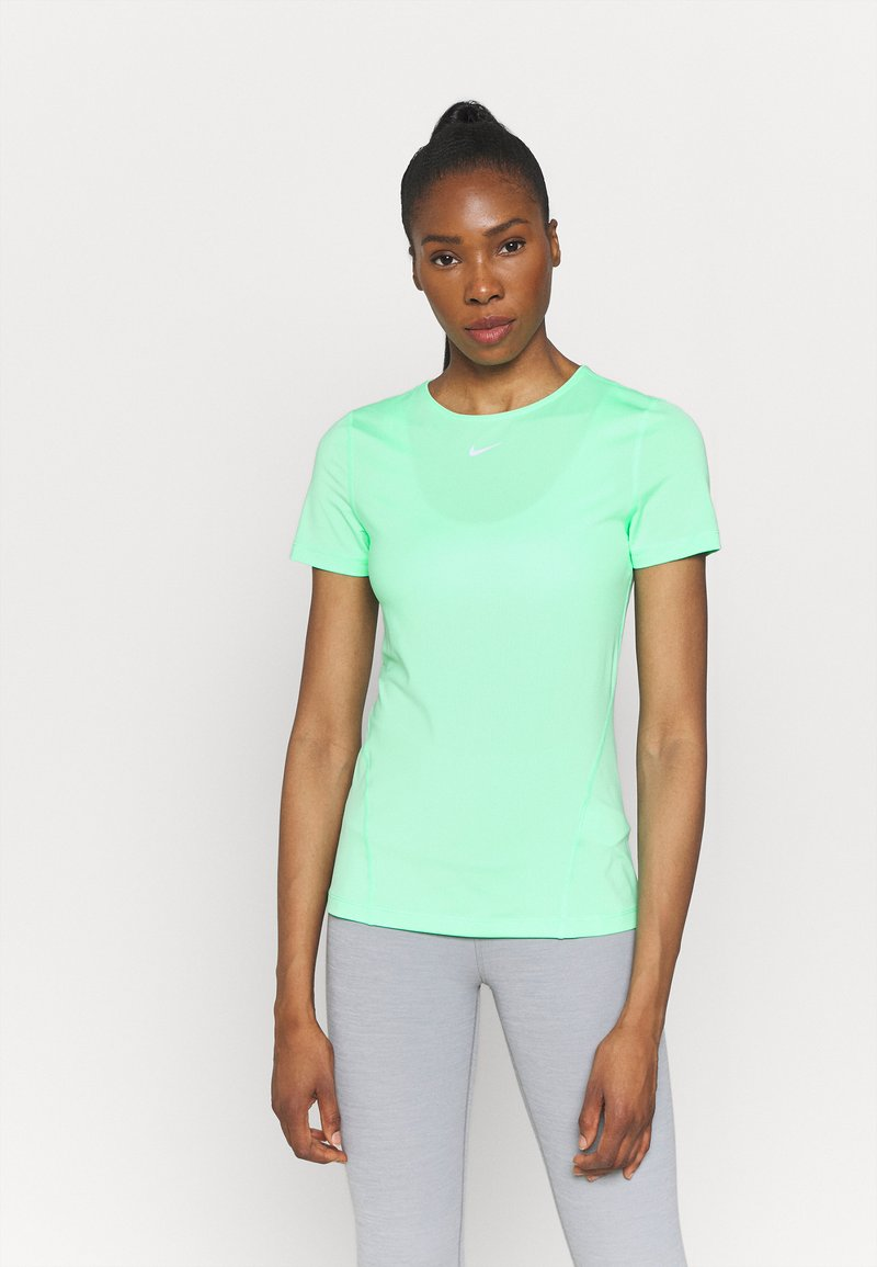 Nike Performance - ALL OVER - T-shirt - bas - green glow/white