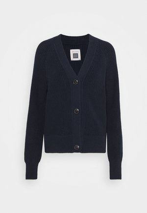 CARDIGAN LONGSLEEVE V-NECK BUTTON - Strikjakke /Cardigans - night sky