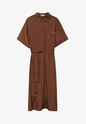 Shirt dress - bruin