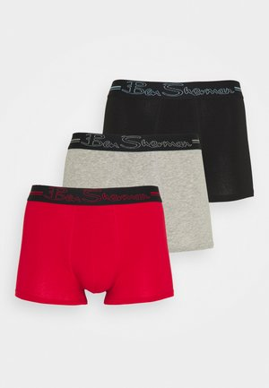 CLAY 3 PACK - Pants - black/grey marl/red