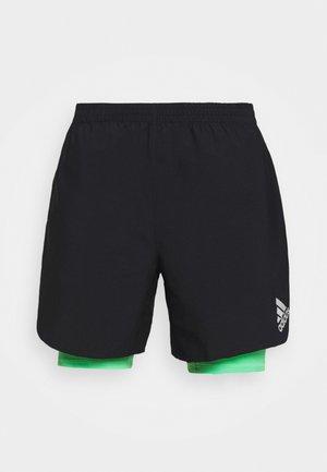 SHORT - Sports shorts - black/semi screaming green