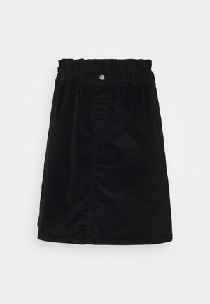 NMJUDO PAPERBAG SKIRT - Mini skirt - black