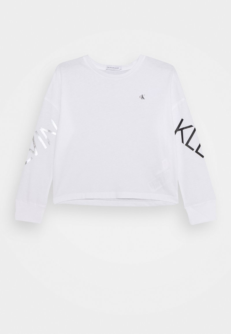 Calvin Klein Jeans - HERO LOGO  - Long sleeved top - white