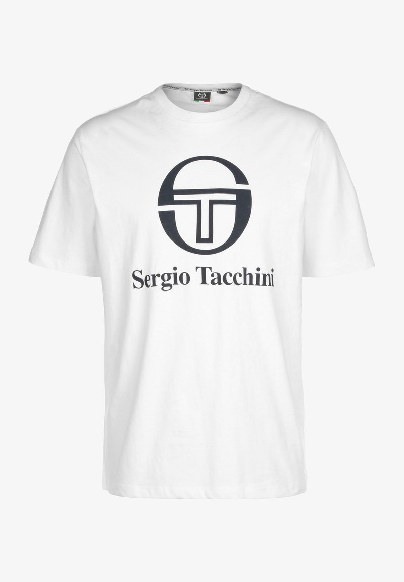 sergio tacchini - Print T-shirt - white/navy