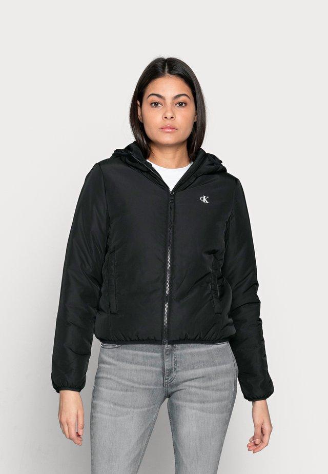HERO LOGO PADDED JACKET - Winter jacket - black
