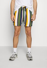 Redefined Rebel - RICK - Shortsit - duck green stripe - 0