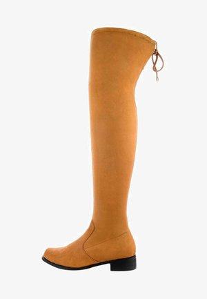 SAMOLACO - Kozačky nad kolena - brown