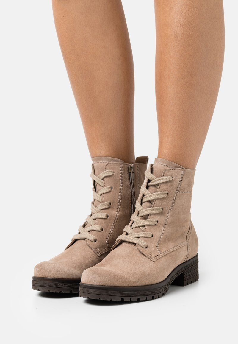 Gabor Comfort - Lace-up ankle boots - desert