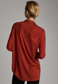 Massimo Dutti - Button-down blouse - red - 2