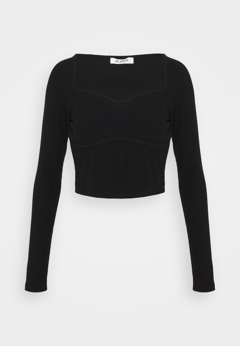 4th & Reckless - Long sleeved top - black