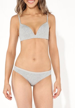 LONDON - Triangle bra - light melange grey