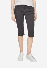 QS by s.Oliver - Denim shorts - dark grey - 3