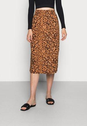 DEMI SKIRT - Pencil skirt - pecan animal