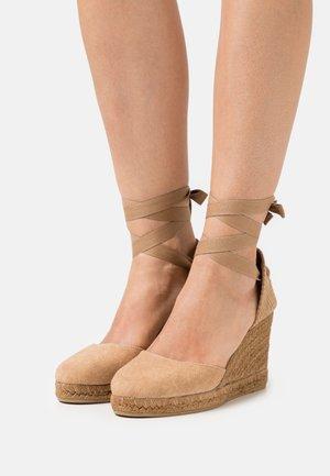 COLIN - Højhælede sandaletter / Højhælede sandaler - camello