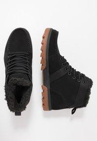 DC Shoes - WOODLAND - Korkeavartiset tennarit - black - 1