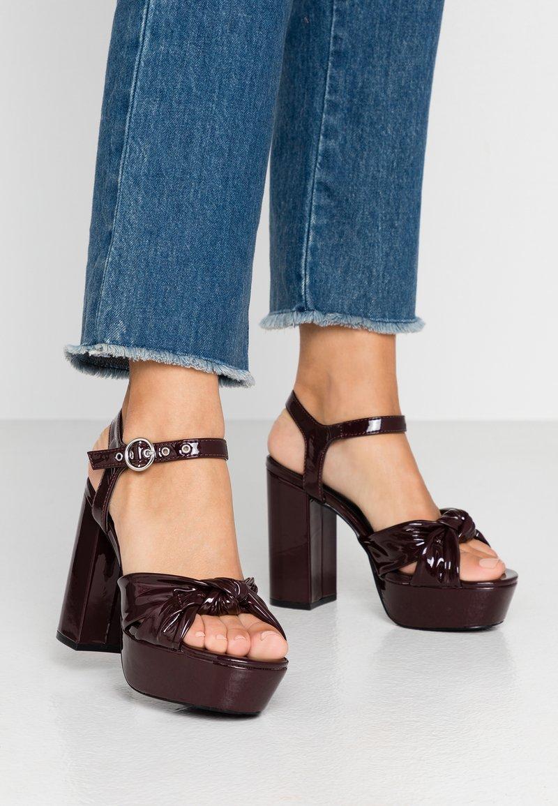 Even&Odd - Sandály na vysokém podpatku - bordeaux