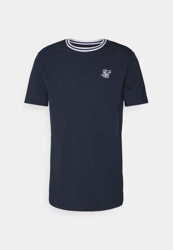 ROLL SLEEVE TEE - T-shirt basic - navy/white