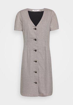 ECORA - Shirt dress - noir/blanc