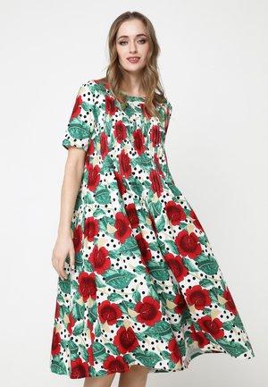 Day dress - weiß, rot
