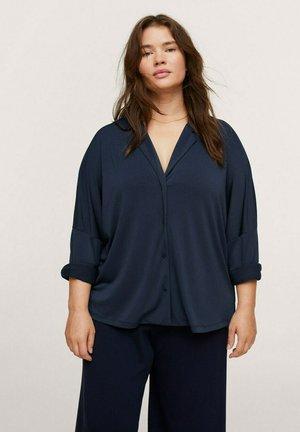 Button-down blouse - dunkles marineblau