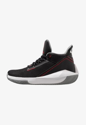2X3 - Basketball shoes - black/gym red/particle grey