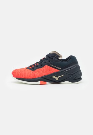 WAVE NEO - Handball shoes - ignition red/platinum gold/salute
