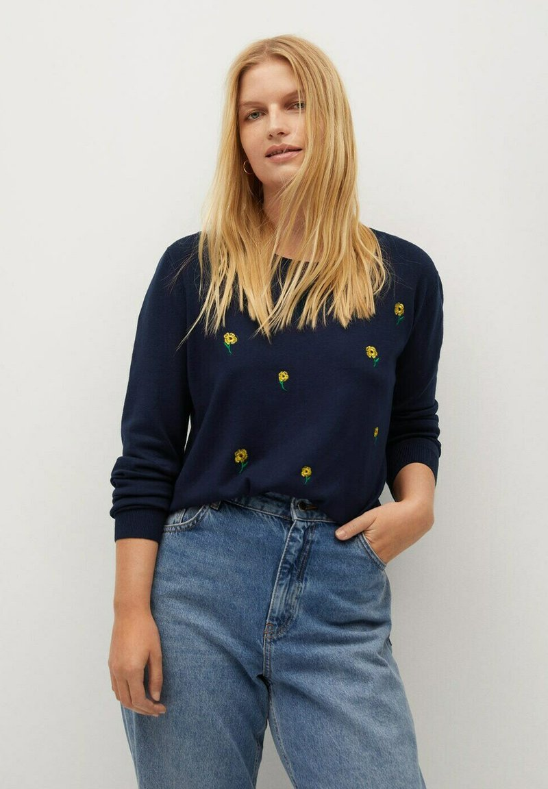 Violeta by Mango - MARGARIT - Jumper - dunkles marineblau