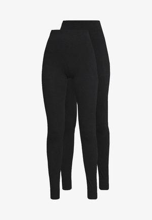 TALL 2 PACK - Leggings - Trousers - black