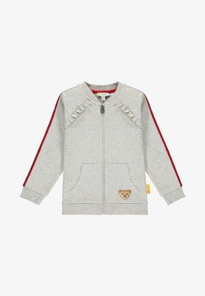 MIT NIEDLICHEM STERNCHENMOTIV - Zip-up hoodie - soft grey melange