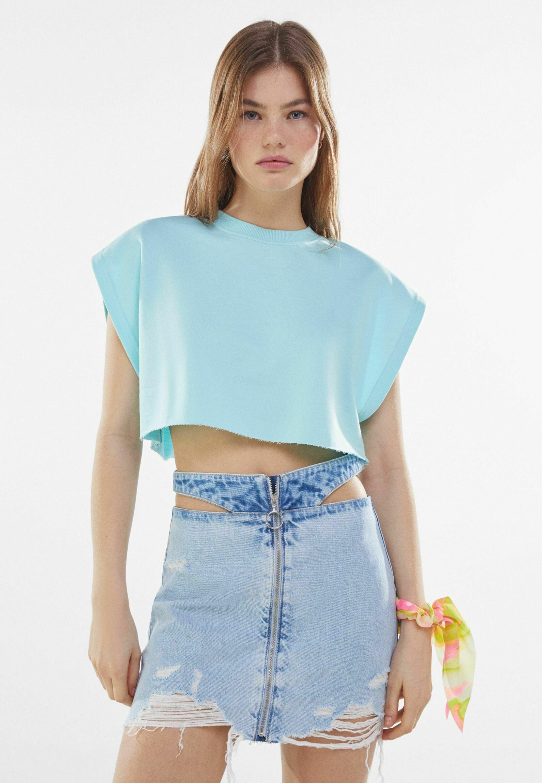 Femme MIT REISSVERSCHLUSS UND CUT-OUTS  - Jupe en jean