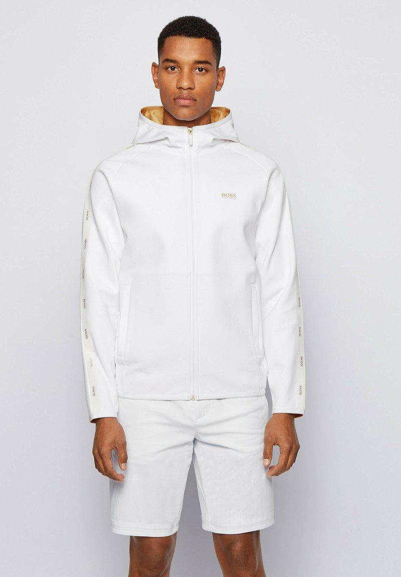 BOSS - Zip-up hoodie - white