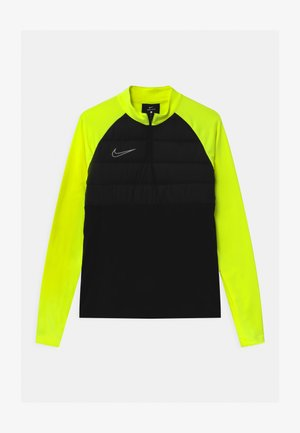 DRY PAD ACADEMY DRIL WINTERIZED - Sports shirt - black/volt/reflective silver