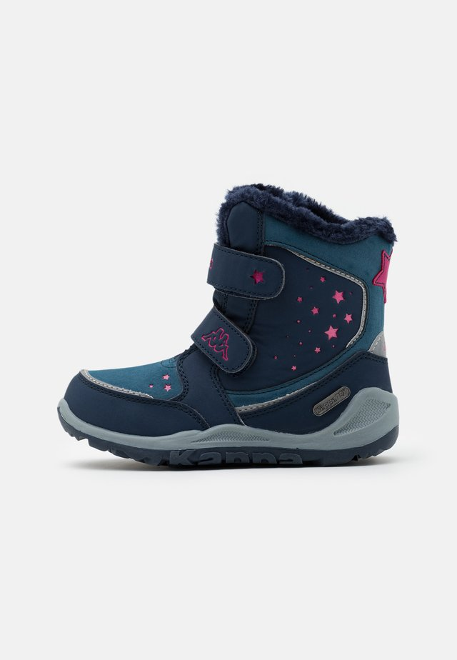 CUI TEX UNISEX - Winter boots - navy/pink